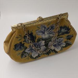EUC Vintage needle point handbag, With coin purse